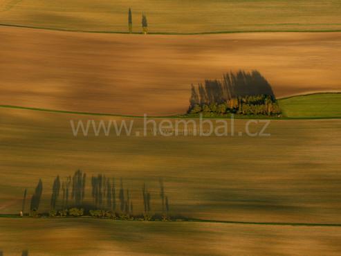 Nad polem nedaleko Blešna