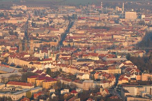 Hradec Králové při východu slunce