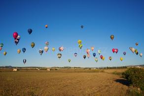 Balóny nad polem na Malorce