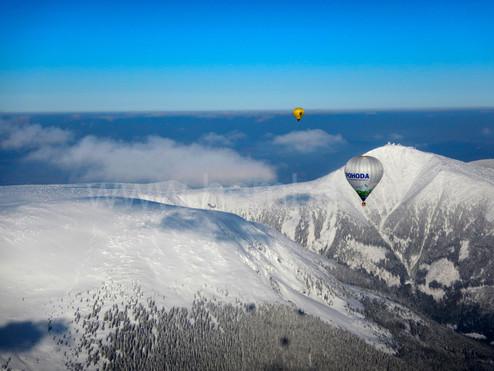 Balóny nad Sněžkou