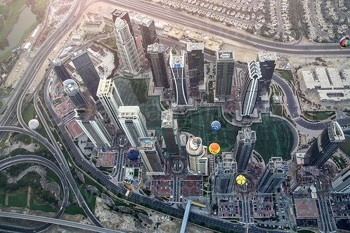 Balóny nad mrakodrapy - z výšky