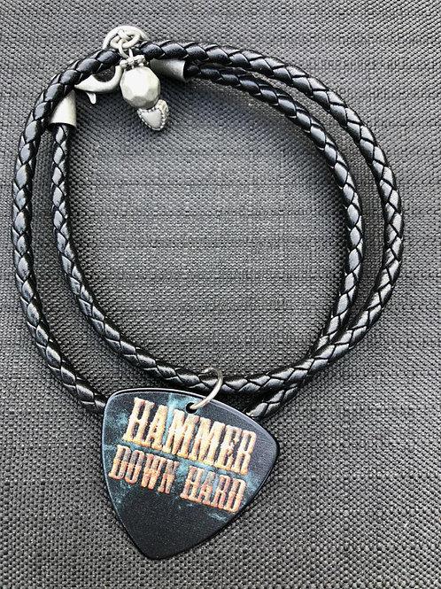 Two-loop braided pick bracelet