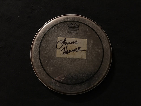 Signed Lonnie Hammer Drum Head