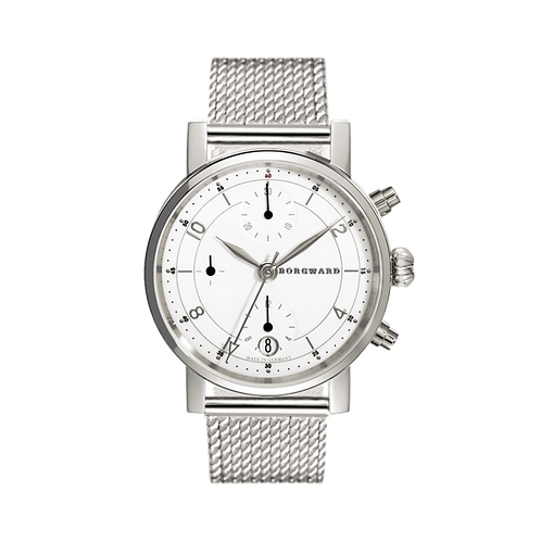 Borgward P100 Chronograph Medium Onion White