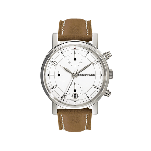 Borgward P100 Chronograph Medium Classic White