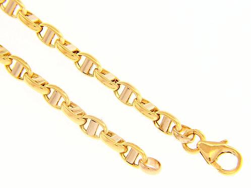 Raggi Bracciale a catena oro giallo e oro bianco