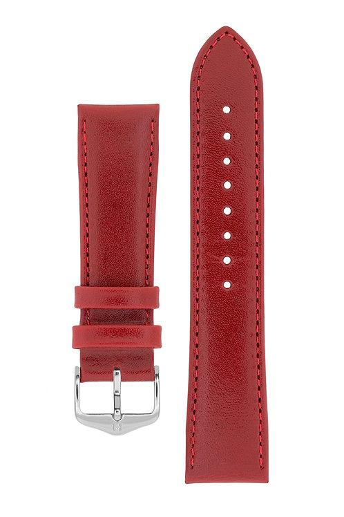 Cinturino per orologio in pelle rossa