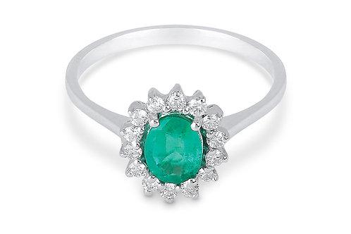 Raggi Anello Smeraldo e Diamanti RA0469