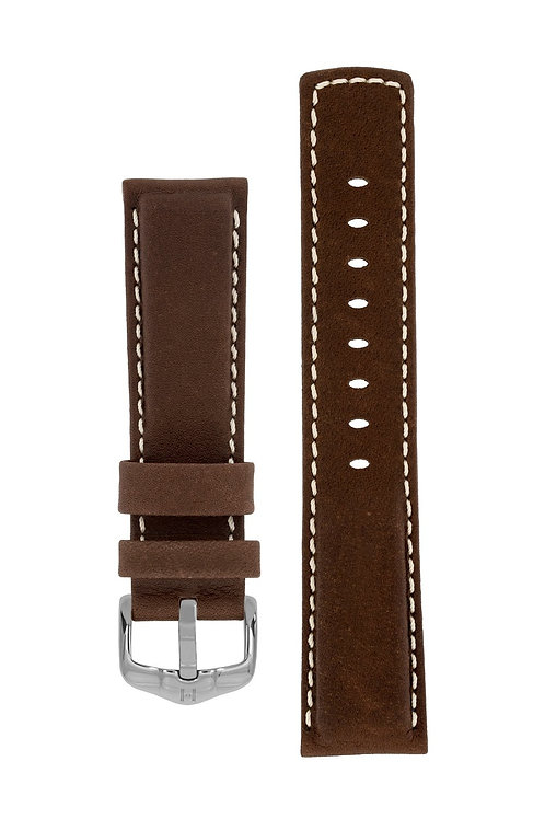 Cinturino per orologio in pelle marrone 100m Water-Resistant