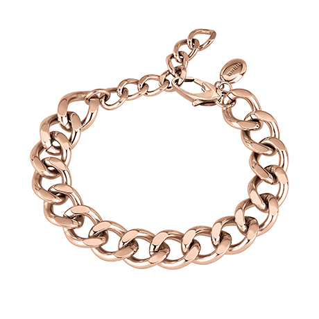 BREIL JOIN UP BRACCIALE A CATENA IN ACCIAIO LUCIDO IP ROSE  TJ2912