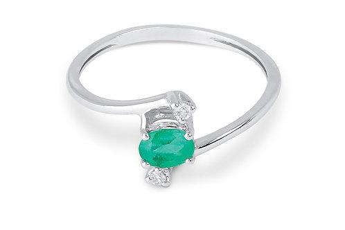 Raggi Anello Smeraldo e Diamanti RA0176