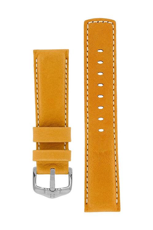 Cinturino per orologio in pelle marrone dorato 100m Water-Resistant