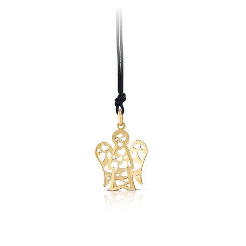 Collana con Angelo in oro traforato NKT298