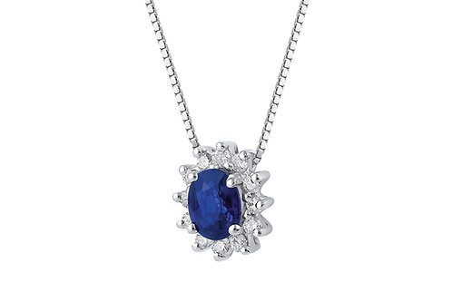 Raggi Collana Zaffiro e Diamanti RA0459