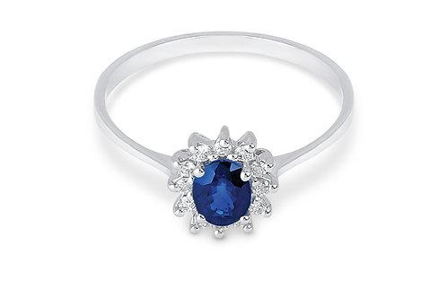 Raggi Anello Zaffiro e Diamanti RA0456