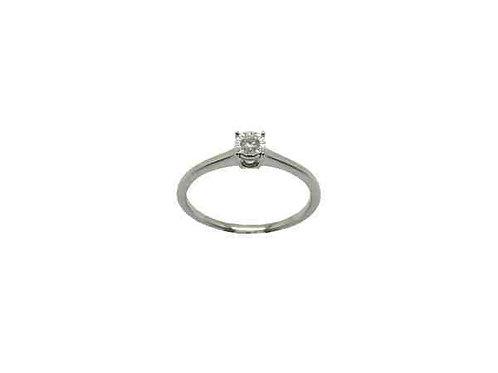 Anello Oro Bianco e Diamante Ct. 0,07 GAX1947B