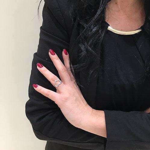Raggi Anello Cuore Profilo Argento RA0491