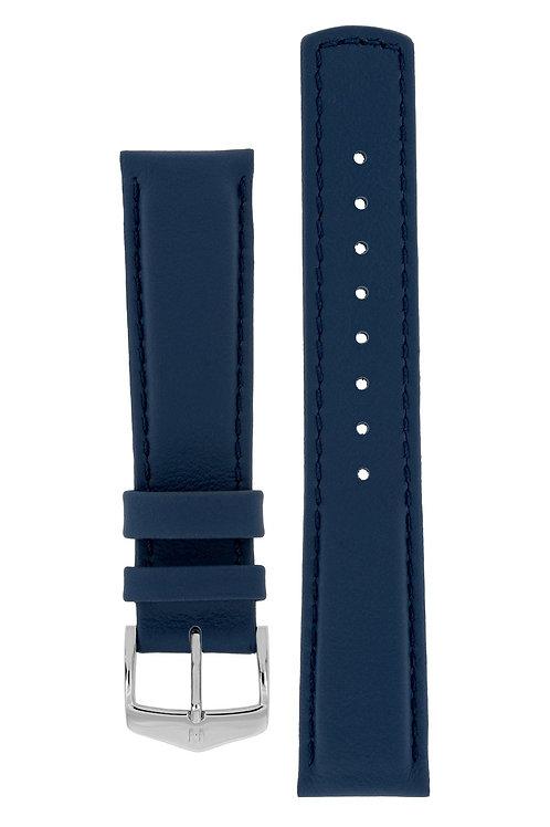 Cinturino per orologio in pelle blu 100m water resistant