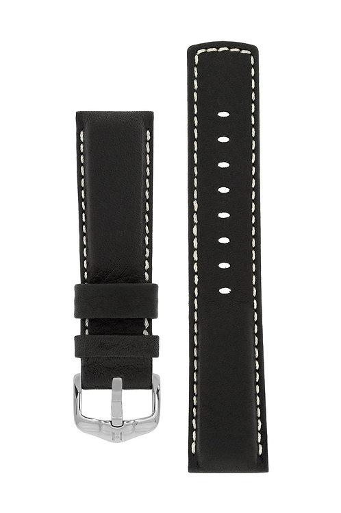 Cinturino per orologio in pelle nero 100m Water-Resistant