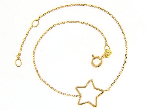 Raggi Bracciale Stella oro giallo