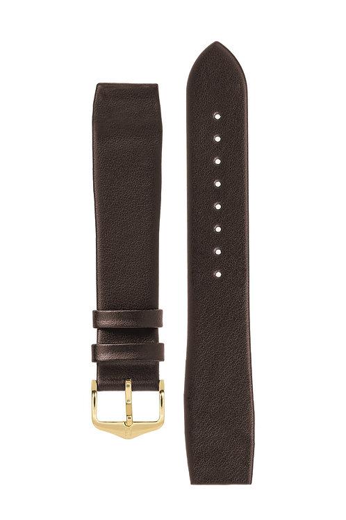 Cinturino per orologio in pelle a grana fine marrone