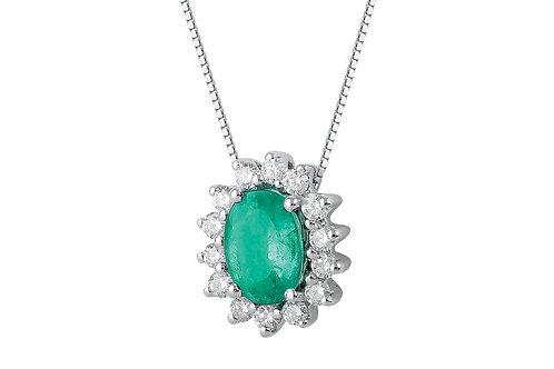 Raggi Collana Smeraldo e Diamanti RA0472