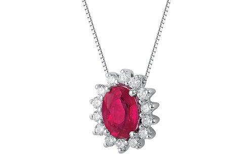 Raggi Collana Rubino e Diamanti RA0471