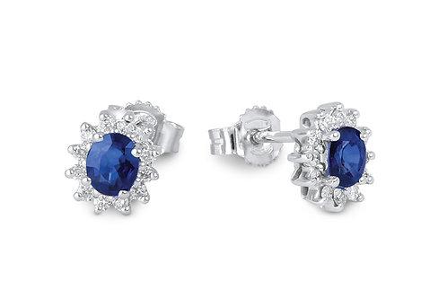Raggi Orecchini Zaffiri e Diamanti RA0462