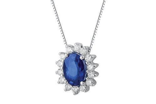 Raggi Collana Zaffiro e Diamanti RA0473