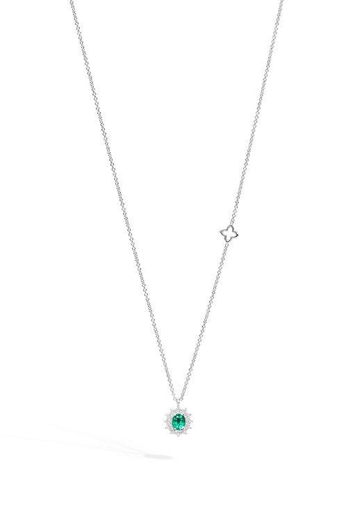 Recarlo Collana Smeraldo e diamanti P77CC001/SM-45