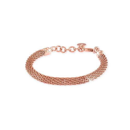 Unoaerre Bracciale in bronzo dorato rosa
