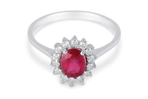 Raggi Anello Rubino e Diamanti RA0468