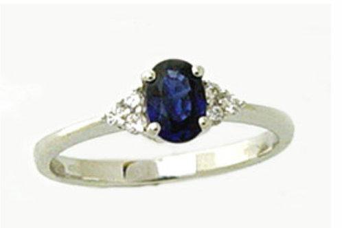 Giorgio Visconti Anello in oro bianco, diamanti e  zaffiro AB15368Z