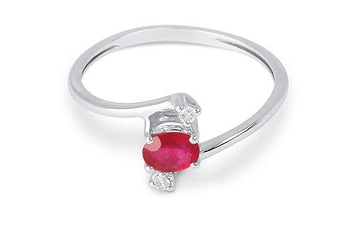 Raggi Anello Rubino e Diamanti RA0175