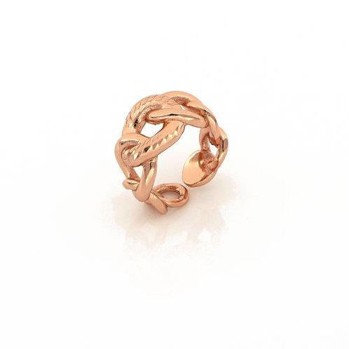 Unoaerre Anello in bronzo dorato rosa