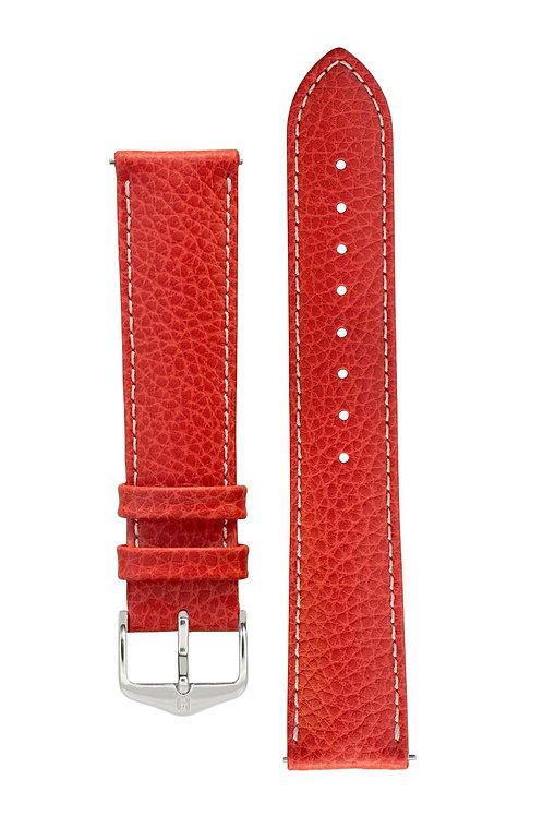 Cinturino per orologio in pelle rosso
