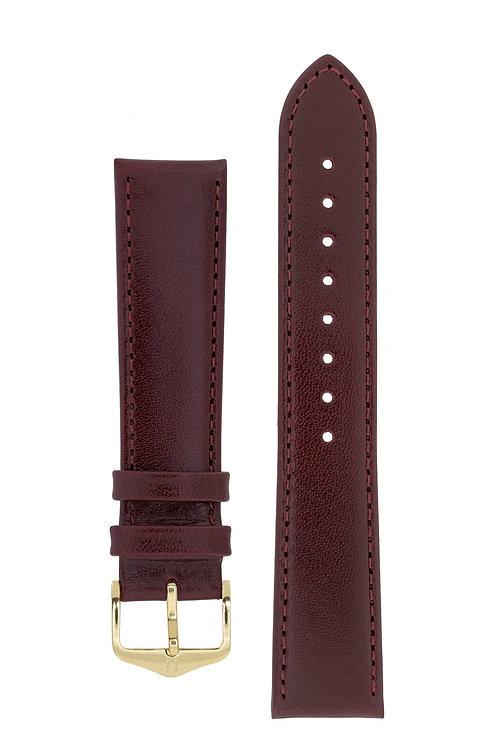 Cinturino per orologio in pelle bordeaux