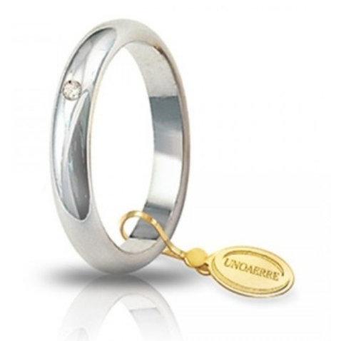 Fede Unoaerre Classica 5 Gr. Oro Bianco con diamante