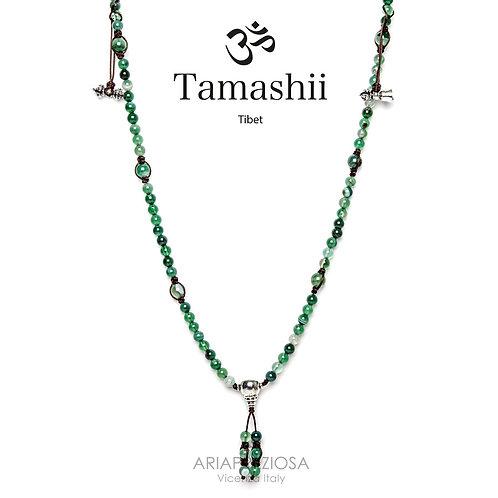Collana Tamashii Mudra Originale Agata Verde Striatanhs1500-140