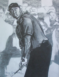 Tiger Woods Charcoal