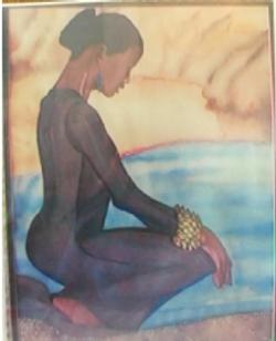 Gazing-watercolor