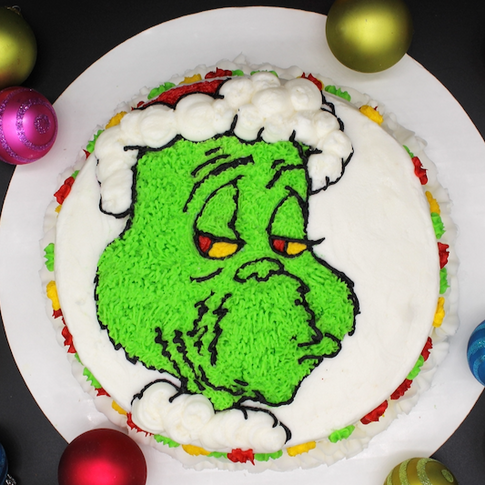 Grinch Face Cake