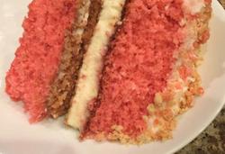 Strawberry Cheesecake Cake slice