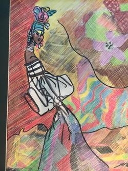 Doodle-colored pencil