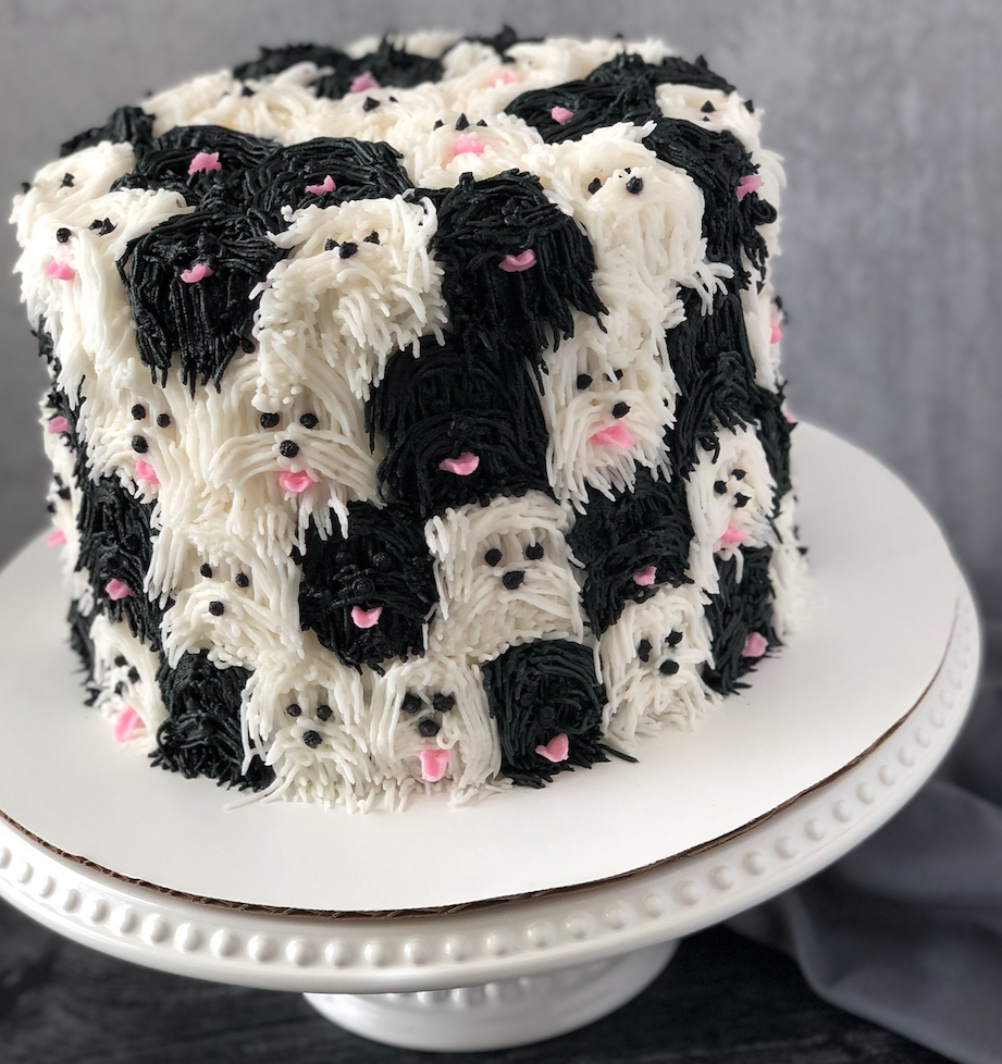 Neapolitan Puppies Cake