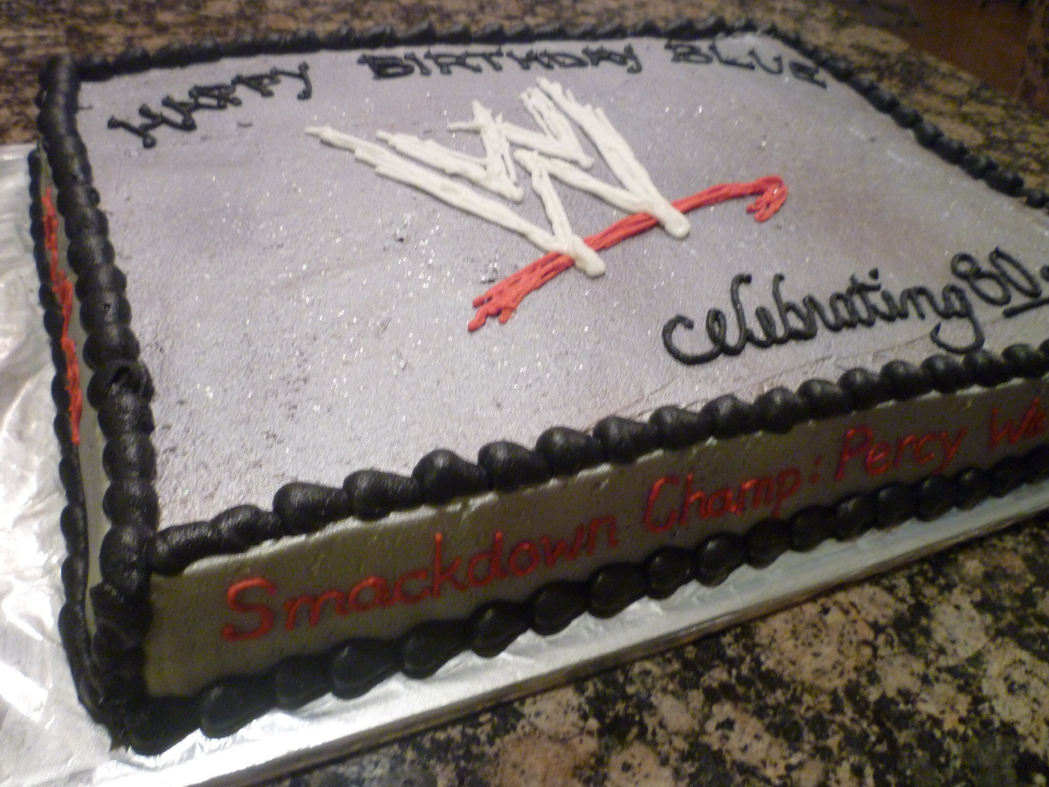 WWE chocolate Cake
