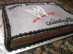 WWE chocolate Cake