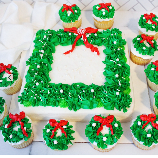 Wreath Cupcakea