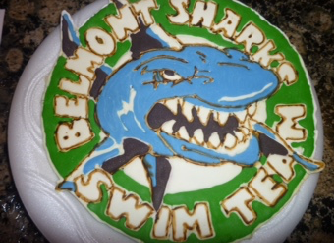 Swim team icing Logo