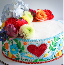 Mexican Embroidery Cake